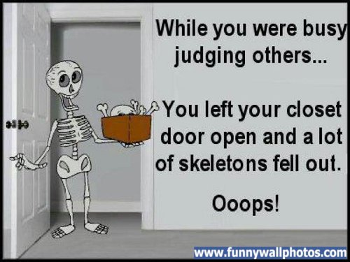 skeletons in closet
