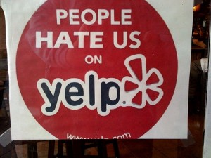 Yelp negative review