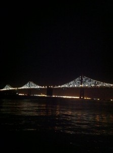 Bay Bridge lights 2013