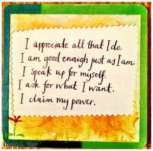 Claim your power - Louise Hay