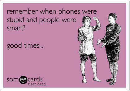 people smart phones dumb