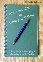 ABCs and 123s of Getting Stuff Done booklet