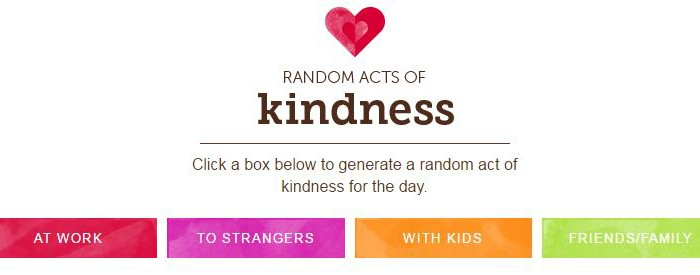 Random Acts of Kindness Generator